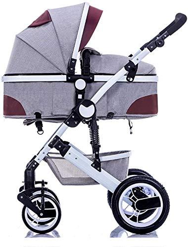 YZPDD Cochecito liviano Carro de bebé Cochecito de Viaje para bebés Buggy Puede Sentarse y acostarse para 0-3 años de antigüedad Sistema de Viaje de Marco de Aluminio
