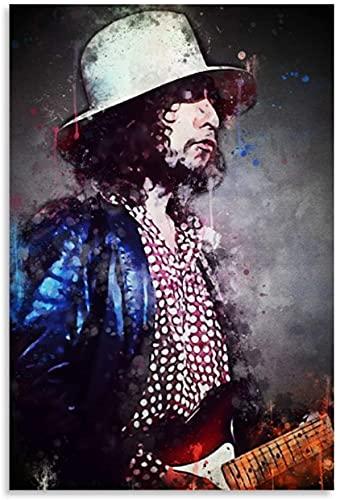 ZRRTTG Canvas Prints Wall Art Posters Bob Dylan Guitarist for Family Decor Artwork Poster Walls Painting 15.7'x23.6'(40x60cm) NO FRAME