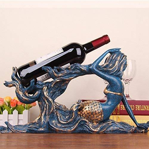 Schöne kreative Meerjungfrau Weinregal Moderne Ornamente Home Dekoration Weinrahmen Dekoration Wohnzimmer Schrank TV-Schrank Schrank Geschenk Geschenk D 'Werbegeschenke
