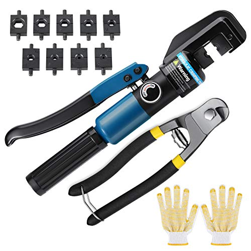 10 Ton Custom Hydraulic Hand Crimper Tool for Stainless Steel Cable Railing Fittings for 1/8