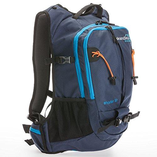 Skandika Whistler Zaino Escursionismo Blu/Arancio 32 Litri Nuovo