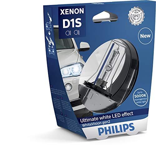Philips 85415WHV2S1 Xenon-Scheinwerferlampe WhiteVision D1S Gen2, Einzelblister