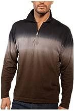 Jhane Barnes Navy Displacement Half-Zip Polo Lightweight Sweater