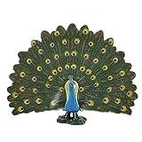 Oiseau Sauvage Modèle Jouet Simulation Collection De Jouets D'animaux Miniatures Figurine Modélisme Paon Modèle Animal Ornements pour La Maison Accessoire Décor (Peacock)