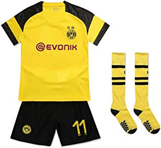 PAOFU Borussia Dortmund Marco Reus 11# Conjunto de Camisetas de Fútbol para Niño