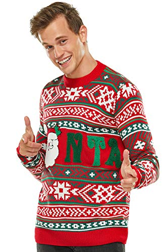 Unisex Ugly Men's Christmas Sweater 3D Santa Pullover Knitted