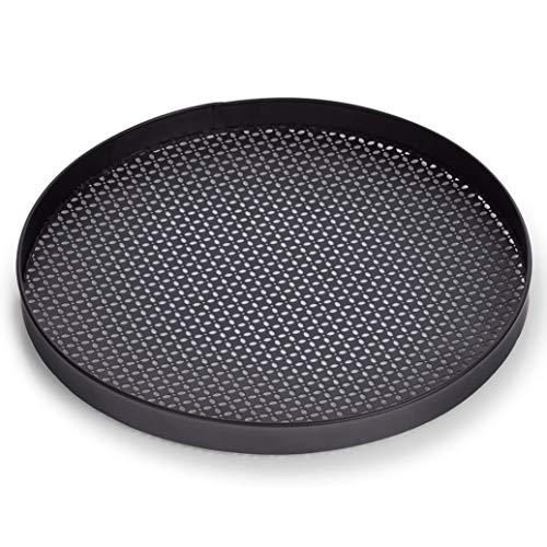 Zeller Serviertablett aus Metall, Ø 35 cm, schwarz, Farbe:schwarz