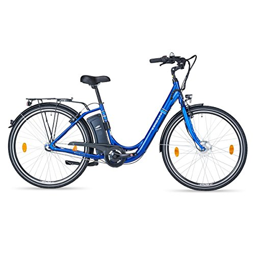 Unbekannt Zündapp Green 2.0 E-Bike | Alu | 28 Zoll | 24V | blau | 250 W | 3 Gang Shimano Nabenschaltung | Elektrofahrrad | LED | Vorderradmotor | Unisex | Reichweite ca. 70 km