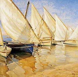 Posterazzi White Sails I Poster Print by Jaume Laporta (24 x 24)