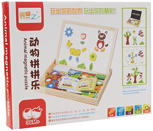 ISCO BallChalkboard Wooden Writing Drawing Whiteboard Magnetic Fun Educational Puzzle Toy for Young Early Education for Christmas Gift from 36 Months