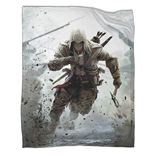 DRAGON VINES Assassin's Creed III Connor Arma Running War Mantas como regalo para mujeres o hombres, 80 x 100 cm