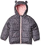 Carter's Girls' Fleece Lined Puffer Jacket Coat, Animals/Grey, 6X