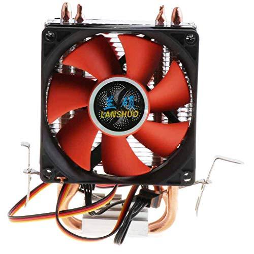 P Prettyia Ventilador Silencioso de CPU de Doble Torre DC 12V Refrigerador de CPU de Escritorio con Cable de Conector de 3 Pines