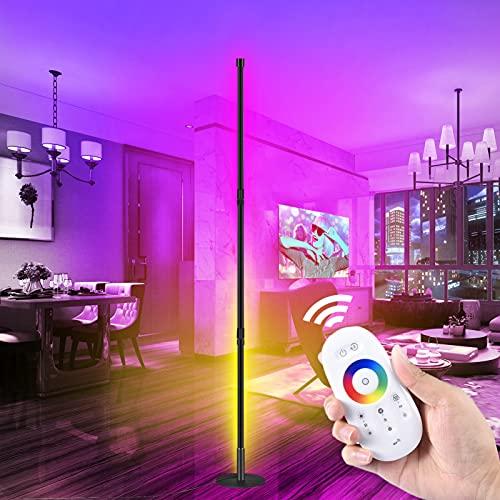 Lámpara de pie LED regulable Luz de Piso RGB 20W con Control Remoto para Salón, Dormitorio,Comedor,Oficina Decoración
