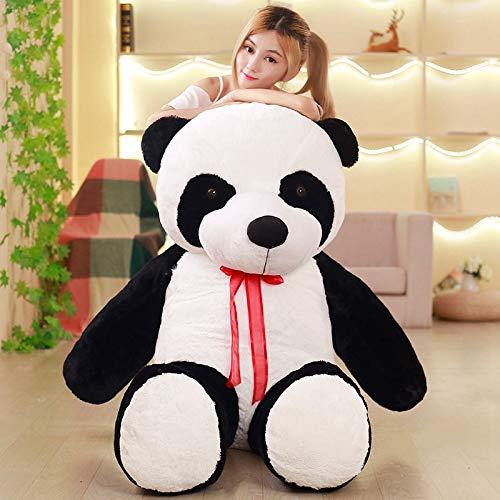WPYLY Lindo 80/100 CM bebé Gran Oso Panda Gigante de Peluche muñeca Animales Juguete Almohada Dibujos Animados Kawaii muñecas niñas Regalos 80cm A
