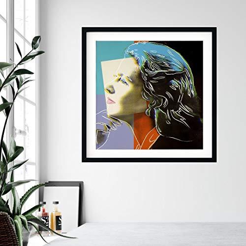 yaoxingfu Sin Marco Ingrid Bergman una Foto publicitaria Ella Misma de Andy Warhol Cartel de Lienzo Arte de la Pared, 60x60cm