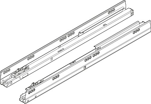 RONIN FURNITURE FITTINGS Blum TANDEMBOX Korpusschienen mit BLUMOTION links/rechts, NL=500mm, 65kg, Vollauszug 576.5001B
