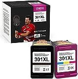 LEMERO UEXPECT Cartucho de tinta remanufacturado para HP 301 301 XL para HP DeskJet 1000 1050 2050 2050A 2540 3000 3050A HP Envy 4500 4502 5530 HP OfficeJet 2620 4630 (1) negro, 1 color)
