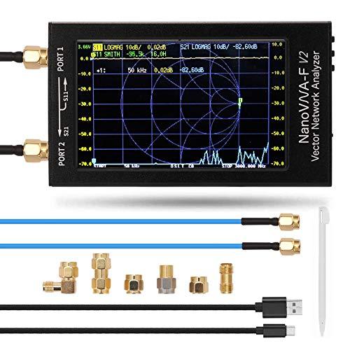 NanoVNA V2 ベクトルネットワークアナライザー3Ghz、メタルシェル4.3インチLCDデジタルディスプレイタッチ大画面NanoVNA-F V2 アンテナアナライザー短波MFHF VHFUHF定在波