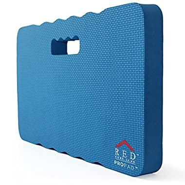RED Home Club Thick Kneeling Pad - Garden Kneeler for Gardening, Bath Kneeler for Baby Bath, Kneeling Mat for Exercise & Yoga - Extra Large (XL) 18x11, THICKEST 1-½ , Blue