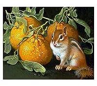 数字でペイントフレームレスリス手描き絵画アートギフトDiy写真数字キット家の装飾40×50(フレームなし)