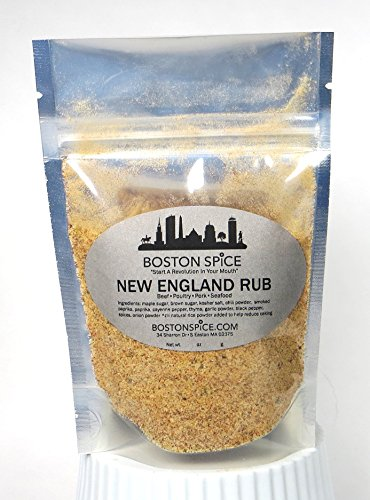 Boston Spice New England Rub Barbecue Handmade Gourmet Seasoning Dry Rub With Vermont Maple Sugar For Beef Pork Poultry Seafood Ribs Roast Vegetables Smoker Grilling BBQ Approx 1/4 Cup of Spice