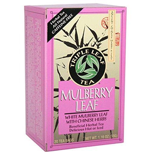 TRIPLE LEAF TEA MULBERRY LEAF, 20 BG, 6 pack