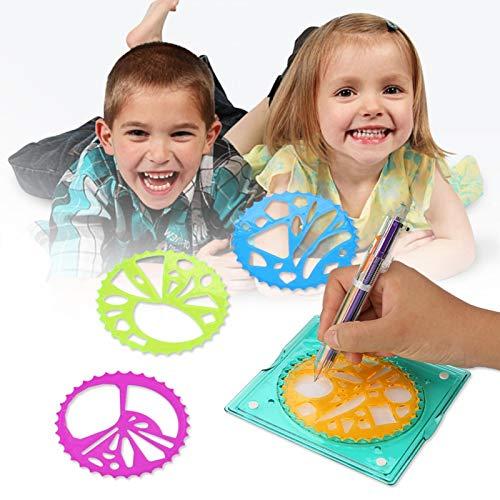 Tomanbery Material de papelería para niños de Juguete de plástico para niños, Colorido para Que dibujen un patrón