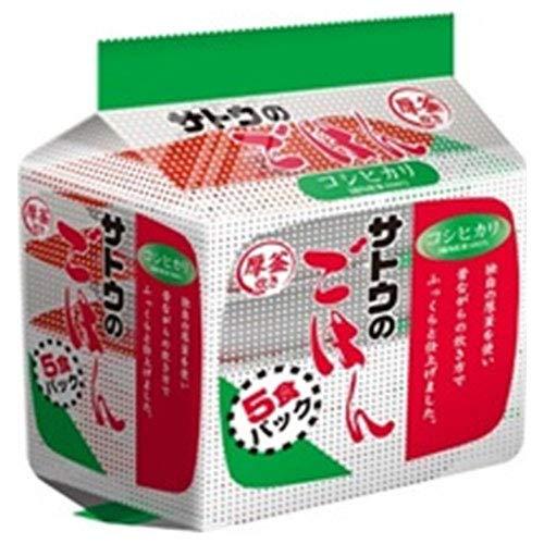 サトウ食品 サトウのごはん コシヒカリ 5食パック (200g×5食)×8個入×(2ケース)