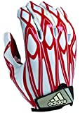 adidas Youth Filthy Quick Football Gloves, White/Red, Small