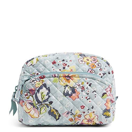 Vera Bradley Women's Signature Cotton Medium Cosmetic Makeup Bag Organizer,...