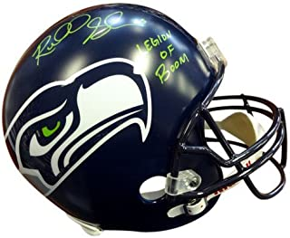 Richard Sherman Signed Seattle Seahawks Riddell Football Helmet Legion of Boom In Green RS - Autographed NFL Football Helmets