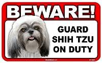 BEWARE!SHIH TZU ラミネートサイン:シーズー 注意 警戒中 Made in U.S.A [並行輸入品]