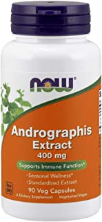 NOW Supplements, Andrographis Extract 400 mg (Standardized Extract), 90 Veg Capsules
