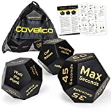 Covelico Fitness Dice Exercise Dice Workout Dice | Workout Equipment | Crossfit Exercise Equipment | Fitness Gifts | Home Gym Bundle of 3 Foam Dice | Exercise Dice for Workouts | HIIT WOD Trainer