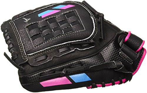Mizuno Prospect Finch - Youth Utility Mitt, Black/Pink, 10'