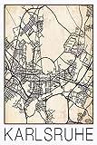 David Springmeyer: Retro Karte Karlsruhe Deutschland Grunge