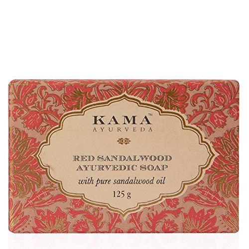 Kama Ayurveda Savon ayurvédique au bois de santal rouge à l'huile pure de bois de santal, 125 g
