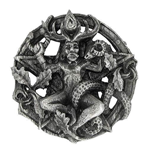 Pewter Cernunnos Celtic Horned God Belt Buckle