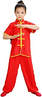 Kids Kung Fu Suit Tai Chi Uniform Chinese Martial Art Wing Chun Taichi Clothing Set Performance Wear for Boys and Girls