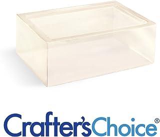 Crafters Choice - Detergent Free - Clear - Low Sweat - Melt & Pour Soap Base MP - 2lb 2 Pound Soap