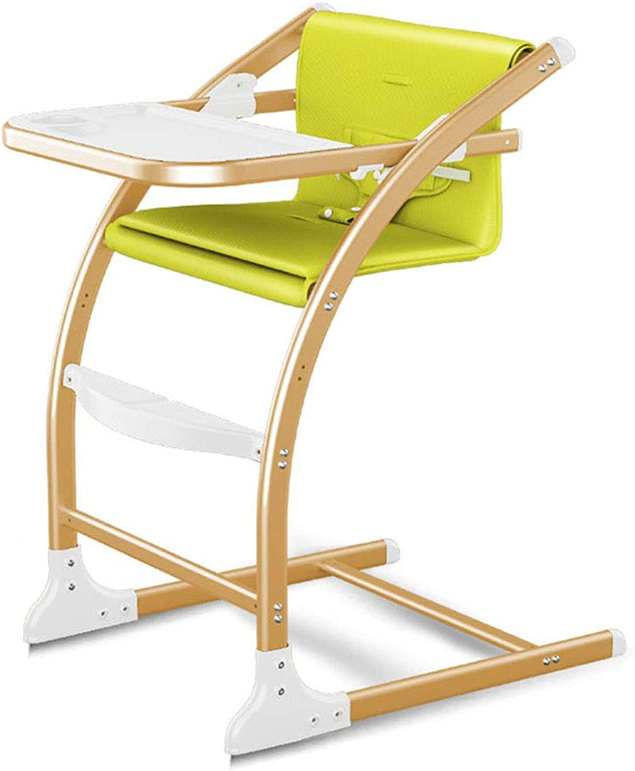 High Chair Baby Dining Chair Multi-Function seat Learning Chair Portable Folding (color   Green, Size   61  64  88cm)
