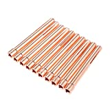 Mtsooning 10Pcs 1/8' 10N25 3.2mm TIG Collet Tips for WP17 18 26 TIG Welding Torch Series