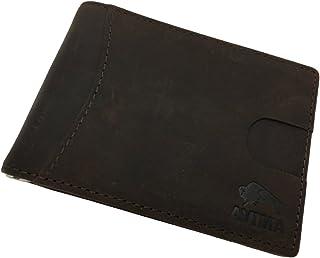 AVIMA RFID Blocking Bifold Slim Handmade Wallet - Thin Magnetic Minimalist Front Pocket Wallets Made of Genuine Leather fo...