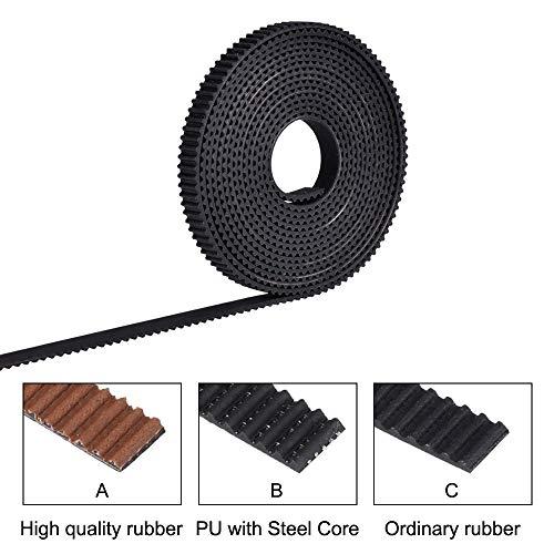 WANG-naun-jun,pj 2/5meter 6mm Open Timing Belt Breedte 6mm 10mm GT2 riem PU Met Staal Core Belt 2GT Timing Belt Voor Reprap 3D Printer Onderdelen