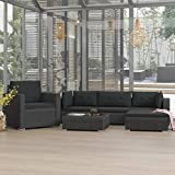 <span class='highlight'>Festnight</span> 6 Piece <span class='highlight'>Garden</span> <span class='highlight'>Lounge</span> <span class='highlight'>Set</span> with Cushions <span class='highlight'>Garden</span> <span class='highlight'>Furniture</span> Sofa <span class='highlight'>Set</span> Poly <span class='highlight'>Rattan</span> Black