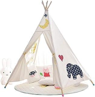 Vobajf Lektält barn tipi-tält för pojkar inomhus och utomhus leker perfekt storlek för barnrum festlektält (Färg: Elefant,...