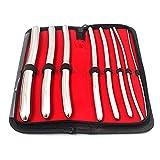 OdontoMed2011 HEGAR 8 Pieces URETHRAL Sounds KIT, Stainless Steel URETHRAL Dilator Set, HEGAR Sound KIT ODM
