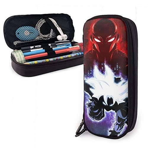 Estuche multifunción para lápices de cuero Goku Master Ultra Instinct Vs Jiren Pen Pouch Papelería Bolsa de oficina Kit de almacenamiento portátil para cosméticos