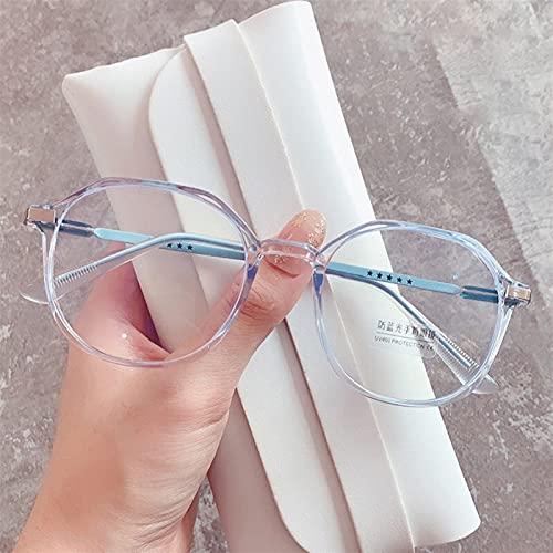 yqs Gafas de Lectura, Luz Azul Bloqueo de Oficina Gafas Mujeres Oversizados Marco Anti-Estrés Decorativo Gafas Computadora Protección de Radiación Eyewear (Frame Color : Blue)
